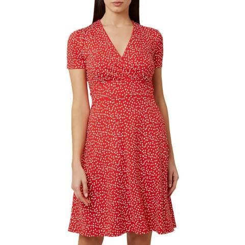 Hobbs London Red Dot Darcie Dress