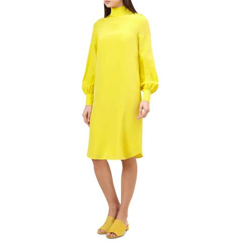 Hobbs London Yellow Alana Dress
