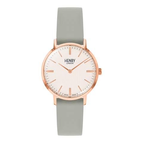Henry London Light Grey Regency Leather Watch