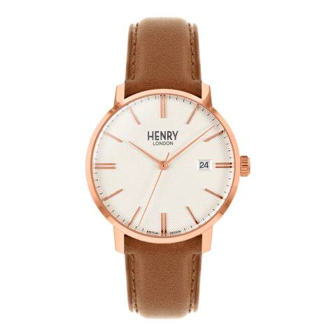 Henry London Brown Regency Leather Watch