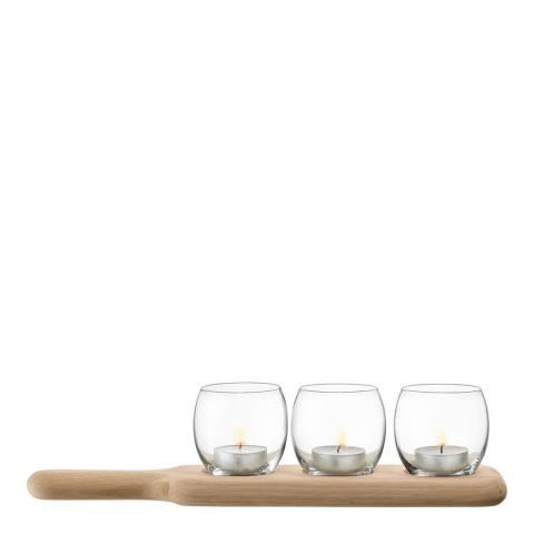 LSA Paddle Tealight Holder Set