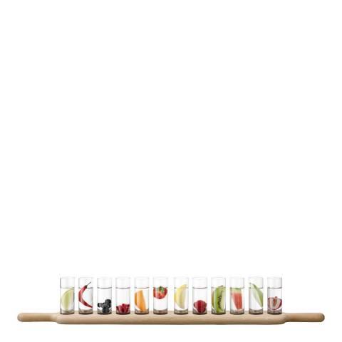 LSA Paddle Grand Vodka Set & Oak Paddle, 77cm