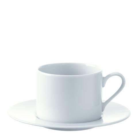 LSA Set of 4 Dine Straight Tea Cup & Saucers, 250ml