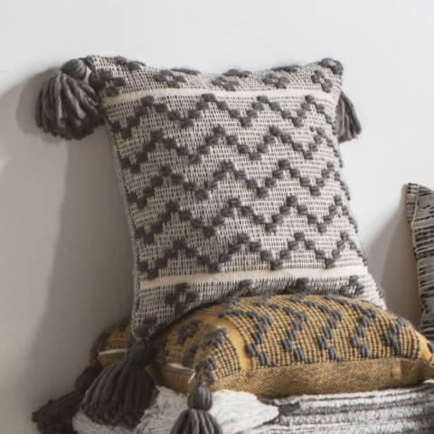 Gallery Grey Lattice Weave Cushion 45x45cm