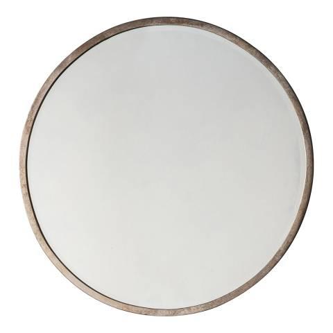 Antique Silver Higgins Round Mirror 60x60cm Brandalley