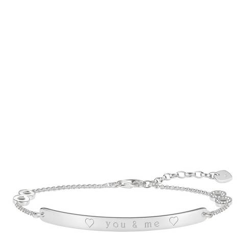 Thomas Sabo Silver Glam Love Bridge Bracelet 19cm