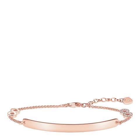 Thomas Sabo Rose Gold Glam Love Bridge Bracelet 19cm