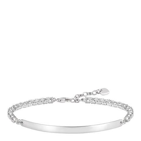 Thomas Sabo Silver Sparkling Love Bridge Bracelet 18cm