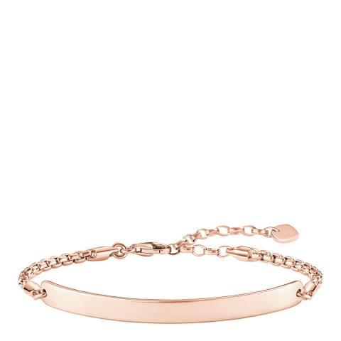 Thomas Sabo Rose Gold Glam Love Bridge Bracelet 18cm