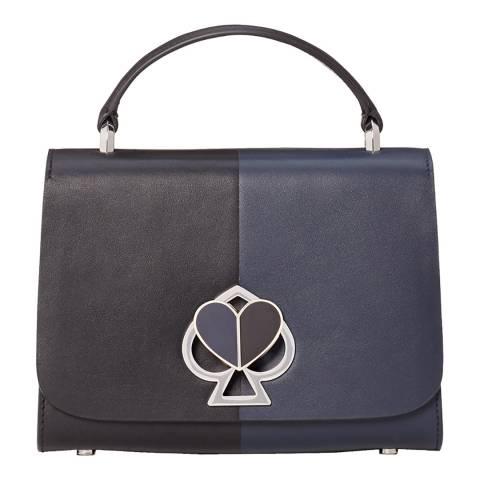 Kate Spade Blazer Blue Black Small Nicola Top Handle Bag
