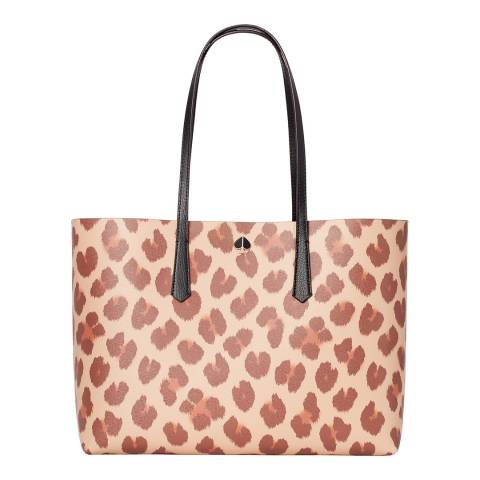 Kate Spade Natural Leopard Print Molly Tote