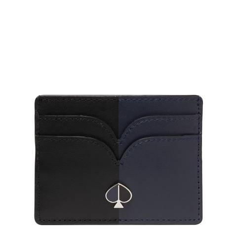 Kate Spade Blazer Blue Black Nicola Card Holder