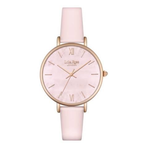 Lola Rose Rose Quartz Rose Gold Bracelet Watch 24mm