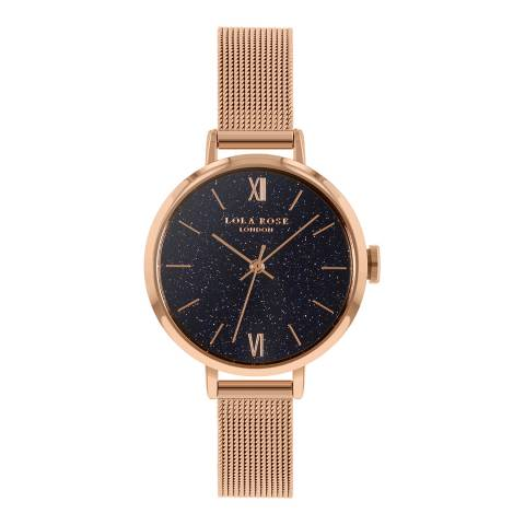 Lola Rose Blue Sandstone Rose Gold Bracelet Watch 30mm