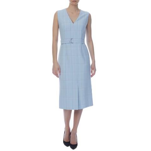 BOSS Blue Check Dalyris Dress