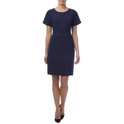 HUGO Navy Kajessi Stitch Dress