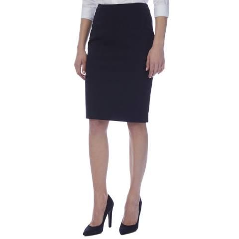 BOSS Navy Vilula Pencil Skirt