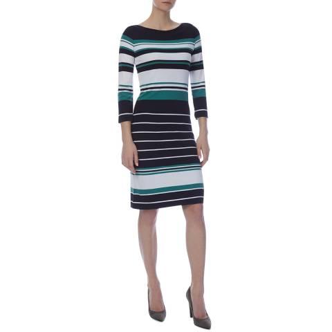 BOSS Blue Stripe Elsara Dress
