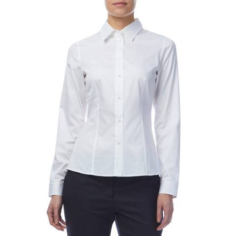 BOSS White Banu Tailored Shirt