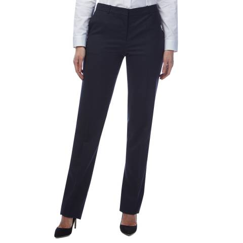 BOSS Navy Textured Tamea Trousers