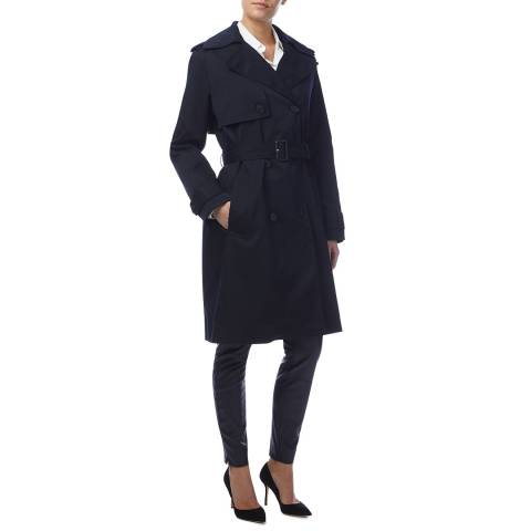 BOSS Navy Cerese Trench Coat