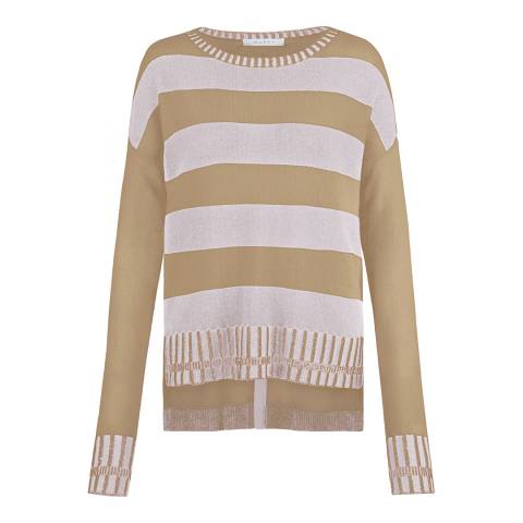 Duffy NY Grey/Mustard Ribbed Cashmere Jumper
