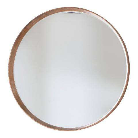 Gallery Oak Keaton Round Mirror 73x73cm