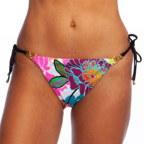 Trina Turk Multi Radiant Blooms Tie Side Hipster