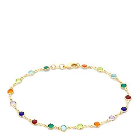 Liv Oliver 18K Gold Multi Color Gemstone Bracelet