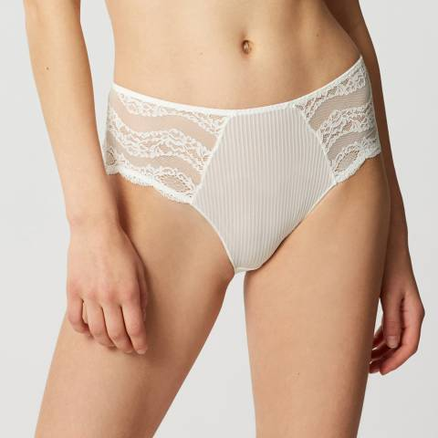 Maison Lejaby Cream Insaisissable High Waisted Briefs