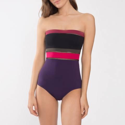 Maison Lejaby Antilles Bayadere Bustier Swimsuit