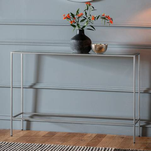 Gallery Rothbury Console Table, Silver