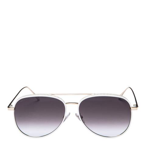 Jimmy Choo Womens White Jimmy Choo Sunglasses 57mm
