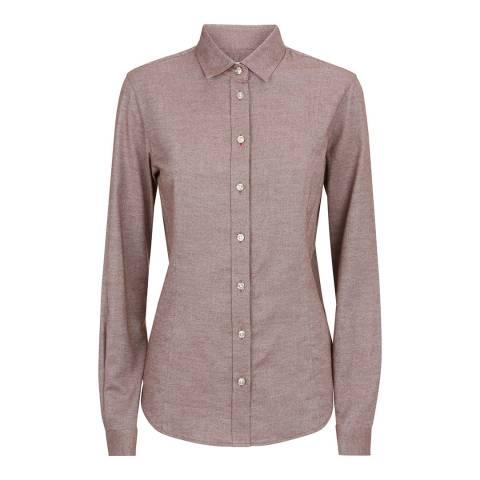 Le Chameau Burgundy Winchcombe Cotton Shirt