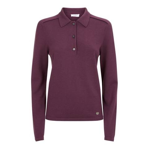 Le Chameau Women's Burgundy Woodchester Jumper