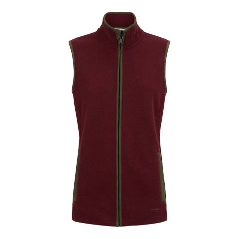 Le Chameau Women's Burgundy Fairford Gilet