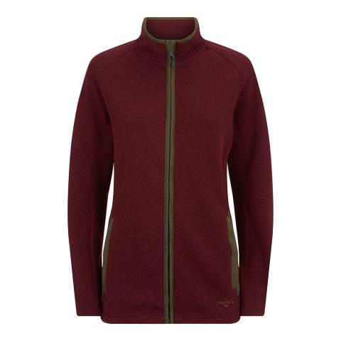 Le Chameau Women's Burgundy Blockley Fleece