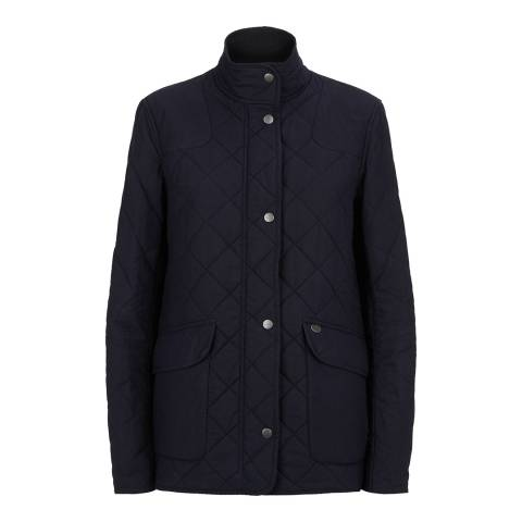 Le Chameau Navy Quilted Wax Country Jacket