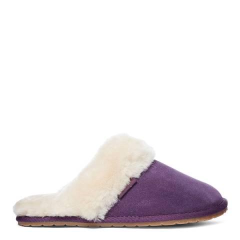 Fenlands Sheepskin Women's Purple Sheepskin Mules Slipper