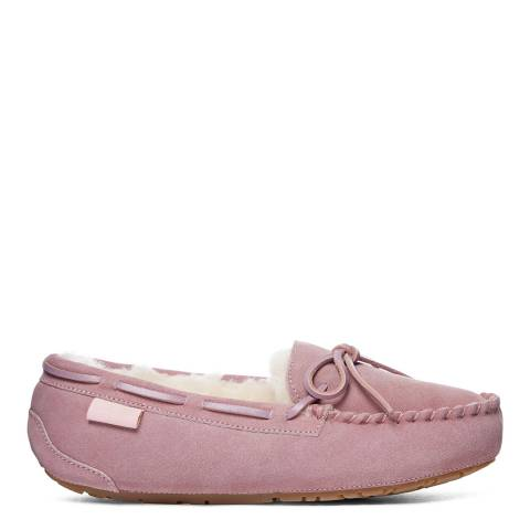 Fenlands Sheepskin Women's Dusty Pink Sheepskin Moccasin Slipper