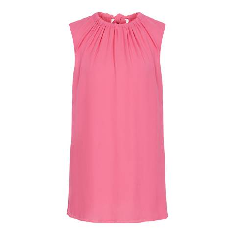 Reiss Pink Lena Bow Back Top