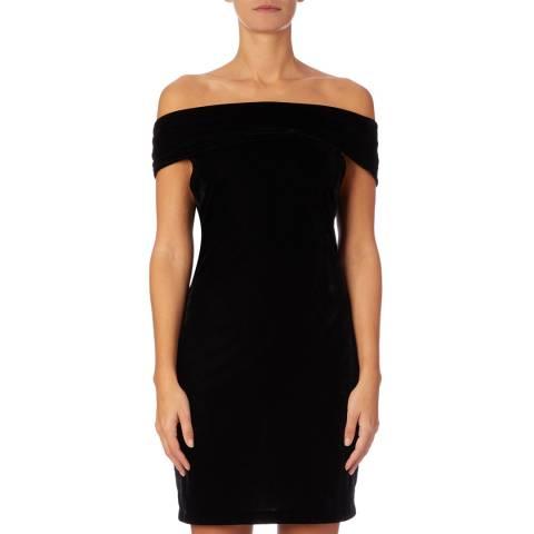 Reiss Navy Verity Ribbed Knit Dress