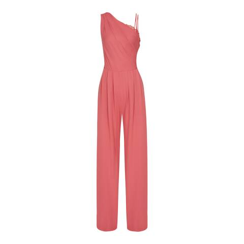 Reiss Coral Polly One Shoulder Jumpsuit