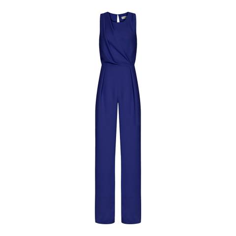 Reiss Blue Chey Tie Back Jumpsuit