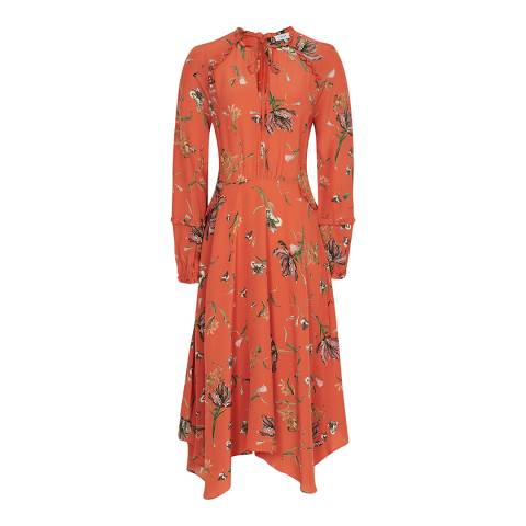 Reiss Coral Bay Floral Dress