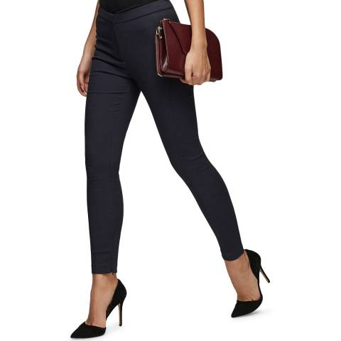 Reiss Navy Darlas Skinny Stretch Trousers