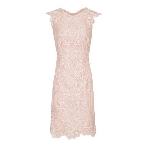 Reiss Blush Roxanda Lace Bodycon Dress