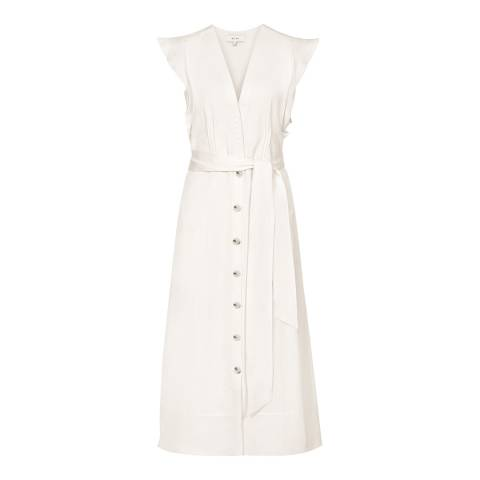 Reiss Ivory Enid Button Through Dress
