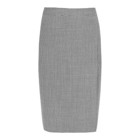 Reiss Grey Romy Textured Wool Blend Skirt