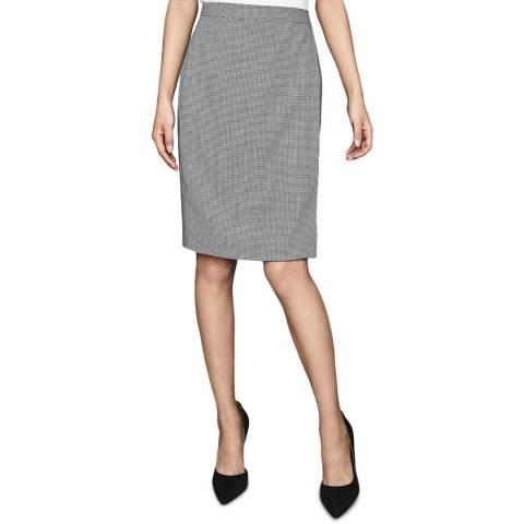 Reiss Grey Romy Textured Wool Blend Skirt